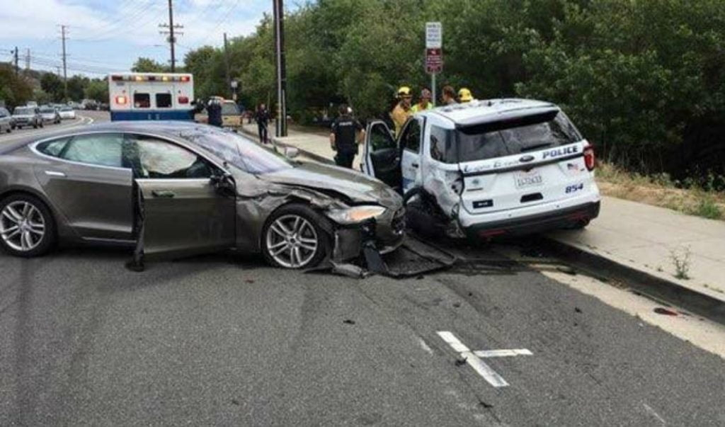 A Tesla crashed in autopilot mode - autonomous driving technology - while the driver watched a movie.