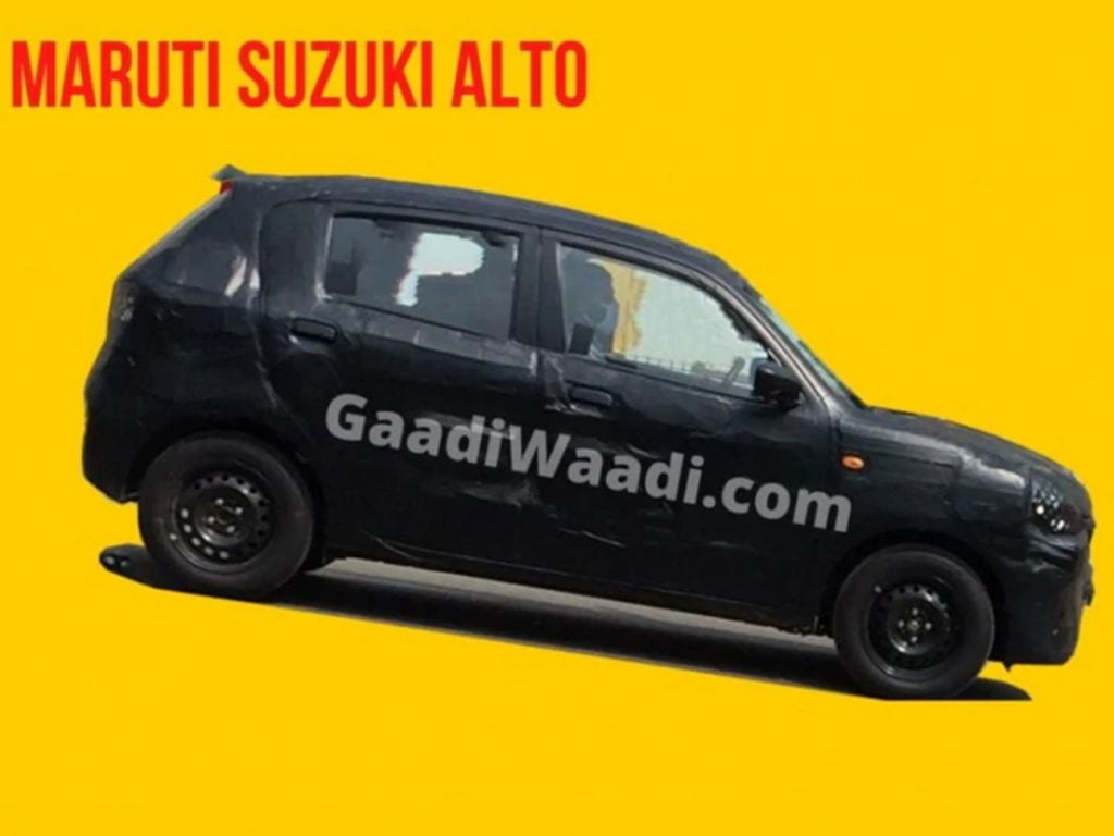 Next-gen Maruti Suzuki Alto has been spied testing for the first time.