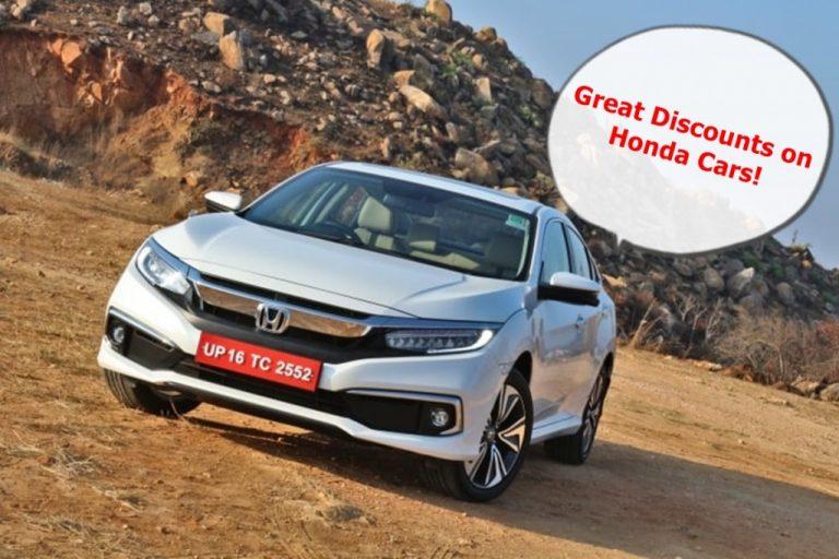 Enjoy Discounts of up to Rs 2.5 Lakh on Honda Civic, Amaze, Jazz and WR-V!