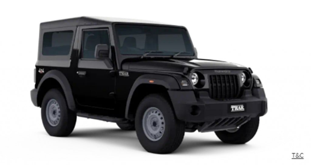 The base-spec AX Series of the Mahindra Thar is more suited for hardcore off-roading.