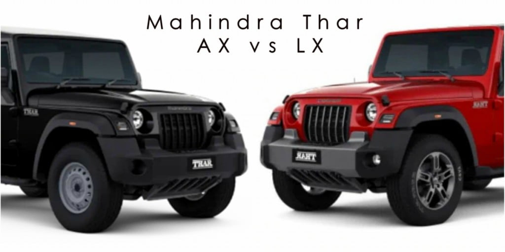 Mahindra Thar AX vs LX - What's different and unique on each of the variants.