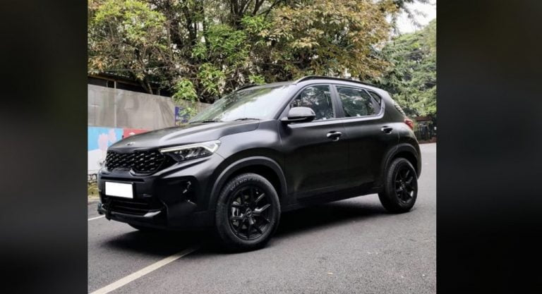 """Here Is India's First Modified Kia Sonet """"Dark Edition"""" – Details"""