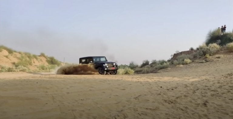 2020 Mahindra Thar Diesel Automatic Taken Dune Bashing – Video