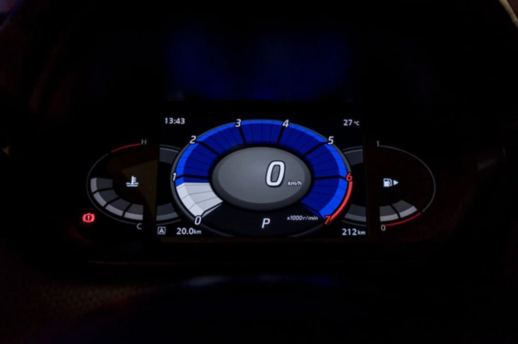 The fully-digital 7-inch TFT instrument console is one of the coolest in the business and shows a ton of information.
