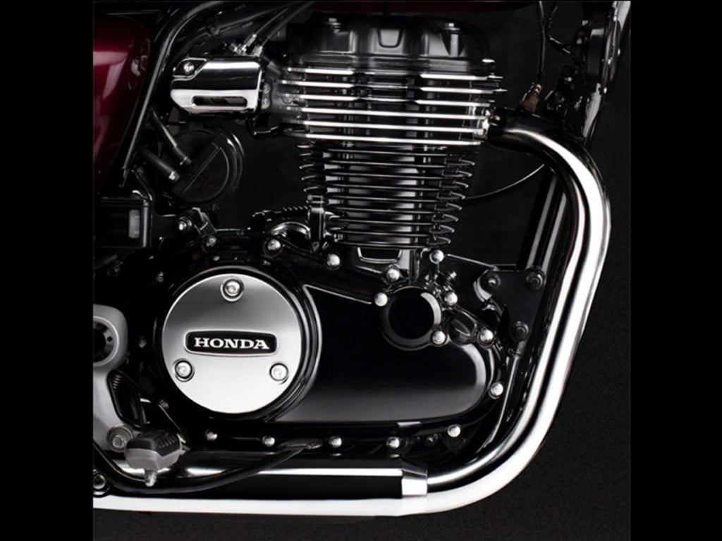 This Honda H'ness CB350 is powered by a brand new 348.36cc counter-balanced single-cylinder air-cooled long-stroke engine.