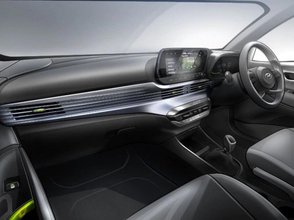 Les intérieurs de la Hyundai i20 aux spécifications indiennes, comme l'ont révélé des croquis il y a quelques jours.