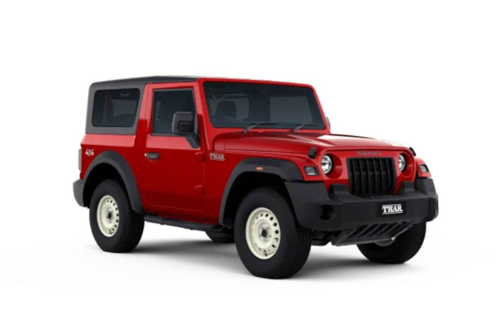 Mahindra a maintenant retiré les variantes AX d'entrée de gamme du Thar de leur site officiel.