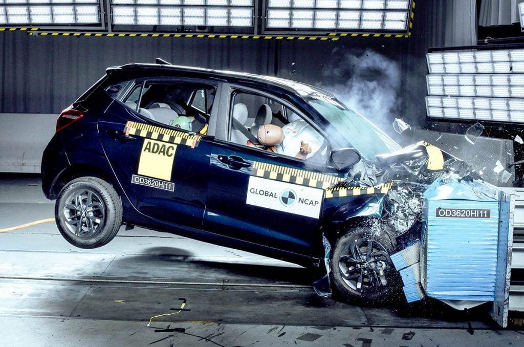 Hyundai Grand i10 Nios obtient une cote de sécurité médiocre de deux étoiles aux crash tests Global NCAP.
