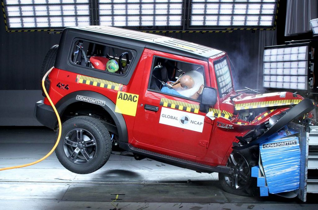 The Mahindra Thar was also recently crash tested by Global NCAP and it came away with a pretty respectable overall score of 4-star.