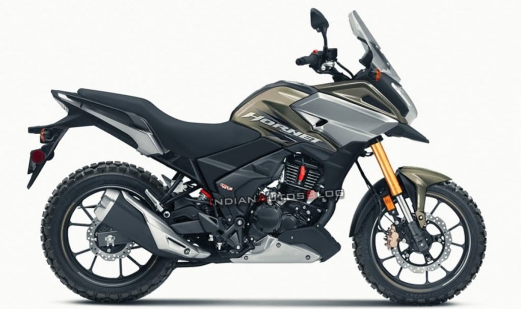 Here we have a digital rendering of what an adventure motorcycle based on the Honda Hornet 2.0 could look like