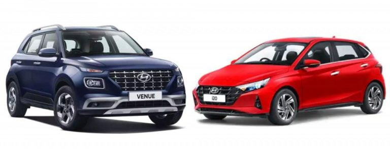2020 Hyundai i20 Vs Hyundai Venue – Variant Wise Price Difference
