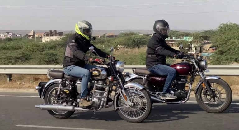 Royal Enfield Classic 350 Vs Honda H'Ness CB350 Drag Race – Who Wins?
