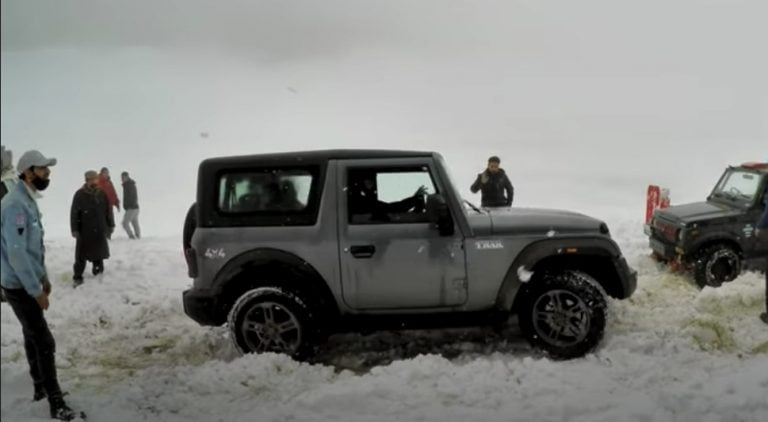 Check Out The Performance Of 2020 Mahindra Thar In Snow – Video