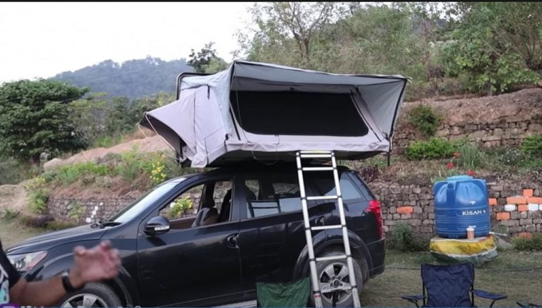 Check Out This Mahindra XUV500 With A Rooftop Tent For Campers