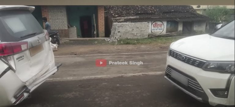 Mahindra XUV300 Rear Ends A Toyota Innova Crysta – Unexpected Results!
