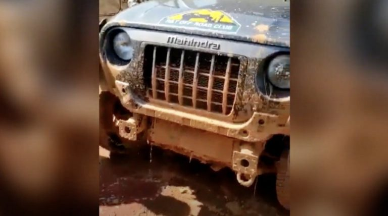 Owner Tries Off-Roading On 2020 Mahindra Thar Without Bumper – Impact