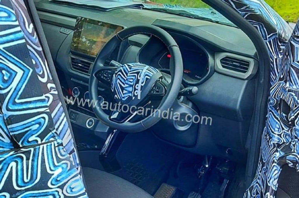 Renault Kiger interiors spotted on test on an earlier occasion.