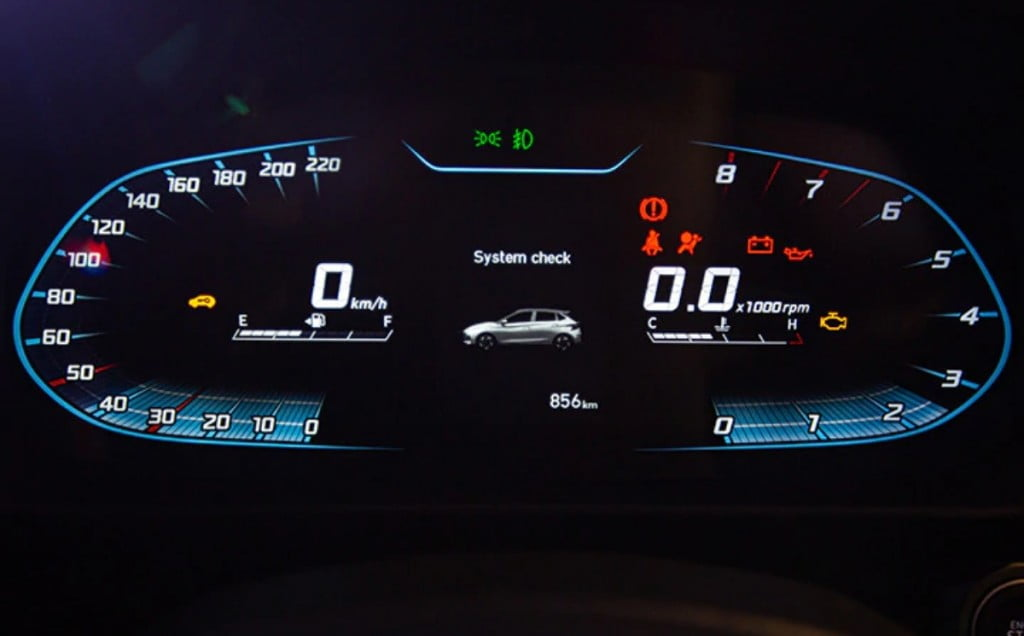 The 10.25-inch digital instrument console is identical to the India-spec Verna.