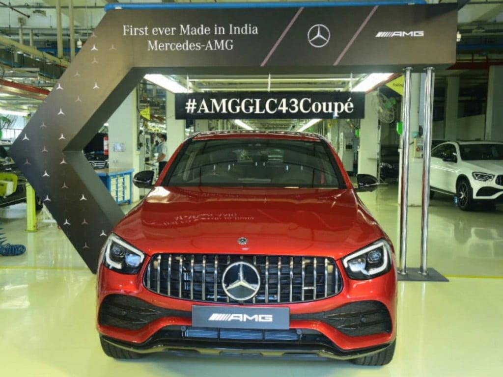 Mercedes-Benz a lancé aujourd'hui le premier coupé GLC 43 AMG fabriqué en Inde en Inde pour un prix de Rs 76,70 lakh (ancien showroom, Inde).