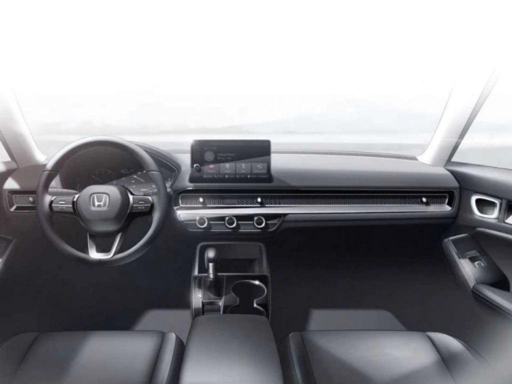 Interior sketches of the new Honda Civic.