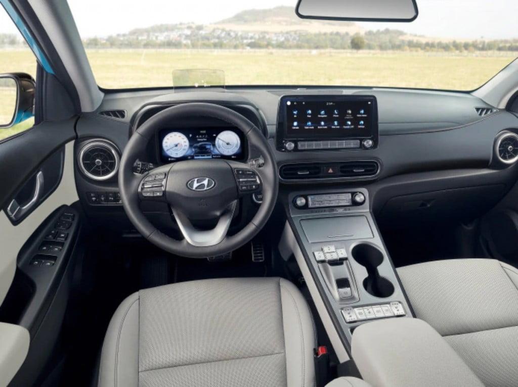 Intérieurs de Hyundai Kona EV.