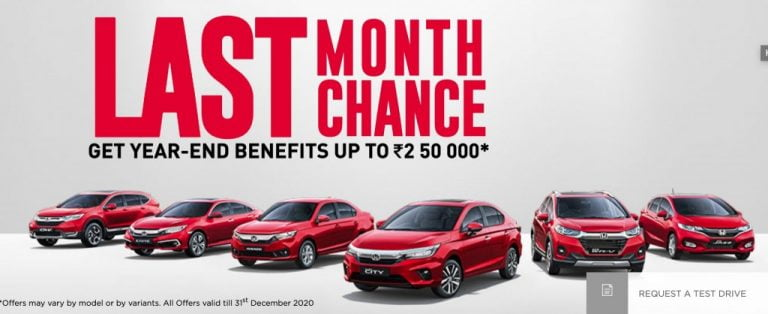 Civic And CR-V To Be Discontinued! Year-End Discounts Of Upto Rs 2.5 Lakh On Honda Cars
