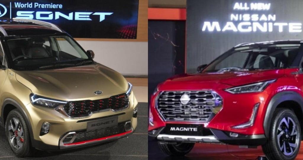 Nissan Magnite Kia Sonet Exteriors Compare
