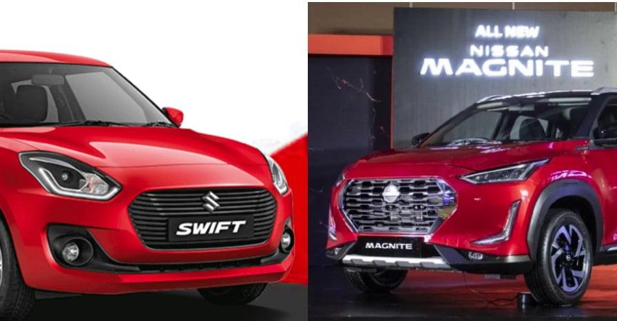 Nissan Magnite Maruti Suzuki Swift Exterior