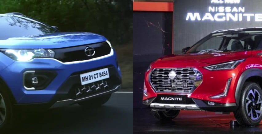 Nissan Magnite Tata Nexon Exterior Comparison