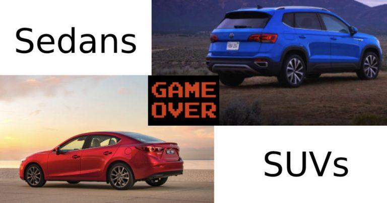 Is It The End Of The Road For Sedans?  Sales Figures Suggest So!