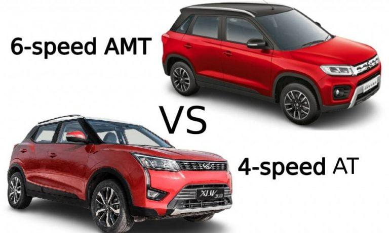 Mahindra XUV300 AutoShift AMT vs Maruti Suzuki Vitara Brezza Automatic – Features, Prices And Driving Comparison!