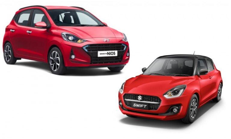 2021 Maruti Suzuki Swift vs Hyundai Grand i10 Nios – Prices, Features And Specs Comparison!