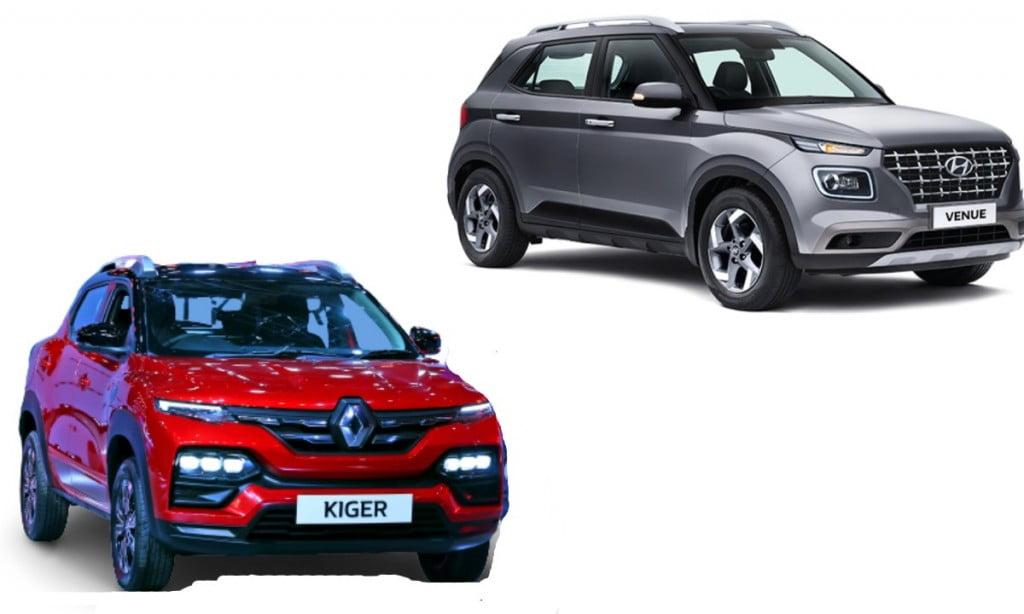 Renault Kiger and Hyundai Venue