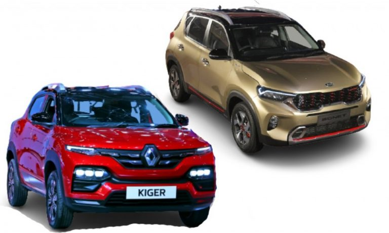 Renault Kiger vs Kia Sonet – Features, Engines, Equipment, Tech And Prices Comparison!
