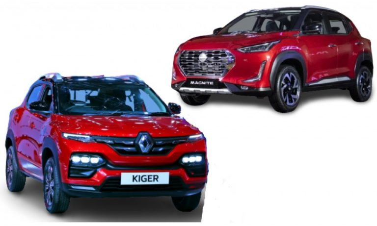 Renault Kiger vs Nissan Magnite – Features, Prices And Engines Comparison!