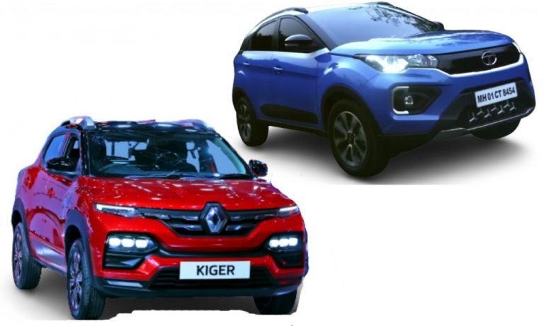 Renault Kiger vs Tata Nexon – Prices, Features, Specs And Engines Comparison!