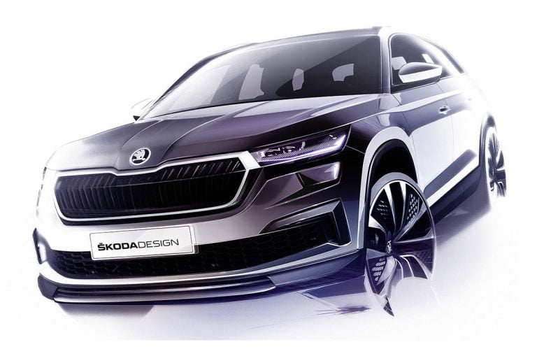 Skoda Releases Design Sketches of Kodiaq; Unveil On April 13 – Expected Engines, Features And More!