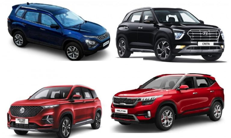 Mid-Size SUV Segment Sales Report For March 2021 – Creta, Seltos, Hector, Harrier, Safari And More!