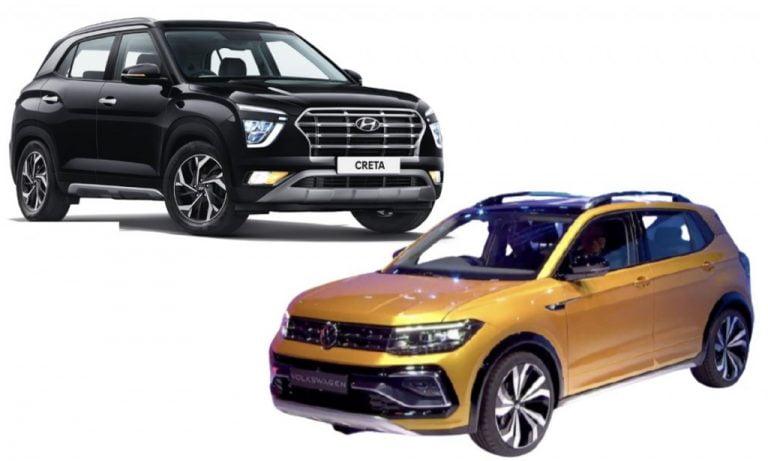 VW Taigun vs Hyundai Creta- Features, Specs, Safety And Prices Comparison!
