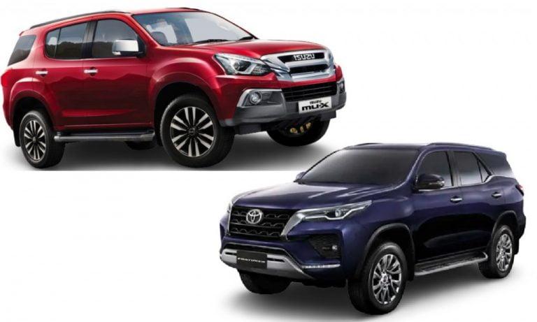 Isuzu mu-X vs Toyota Fortuner- Engines, Features, Prices, Specs, Safety Comparison!