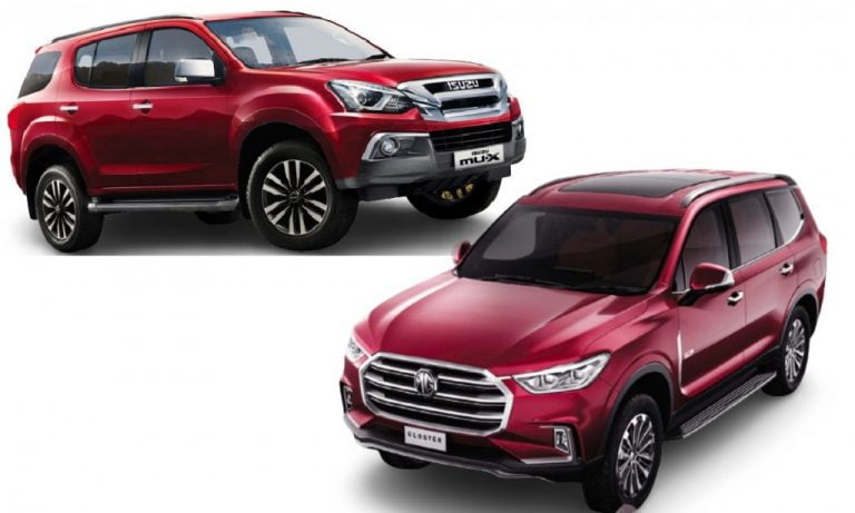 Isuzu mu-X vs MG Gloster- Engines, Prices, Features, Specs, Safety Comparison!