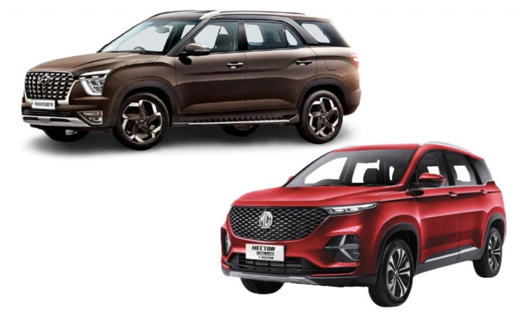 Hyundai Alcazar vs MG Hector Plus