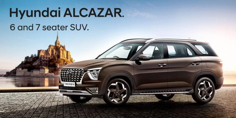 Hyundai Alcazar 7-Seat Creta Based SUV Interiors Revealed, Bookings Open- Features & Details