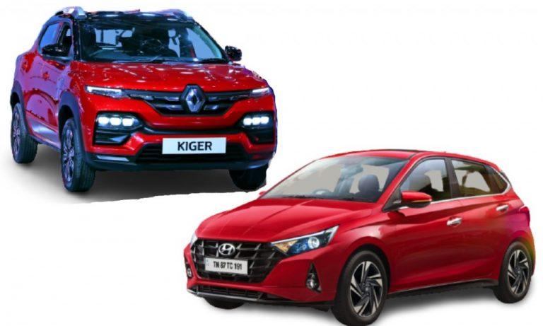 Hyundai i20 vs Renault Kiger – Clash Of Segments – Features, Prices, Specs Comparison!