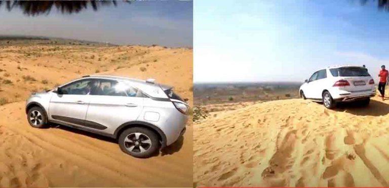 Watch Tata Nexon Dune-Bashing As A Mercedes SUV Gets Stuck