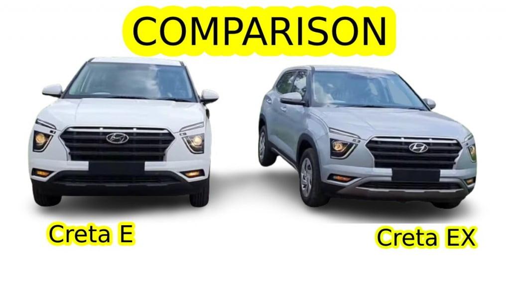 Hyundai Creta E vs EX Comparison