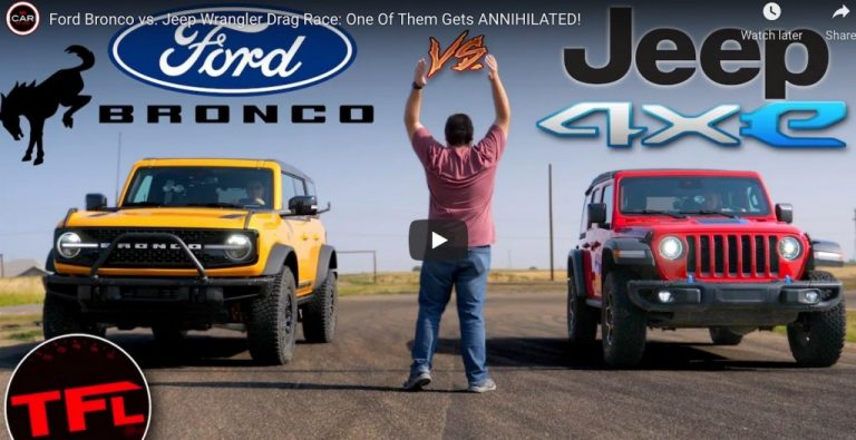 Ford Bronco vs Jeep Wrangler Drag Race: One Of Them Gets Annihilated!