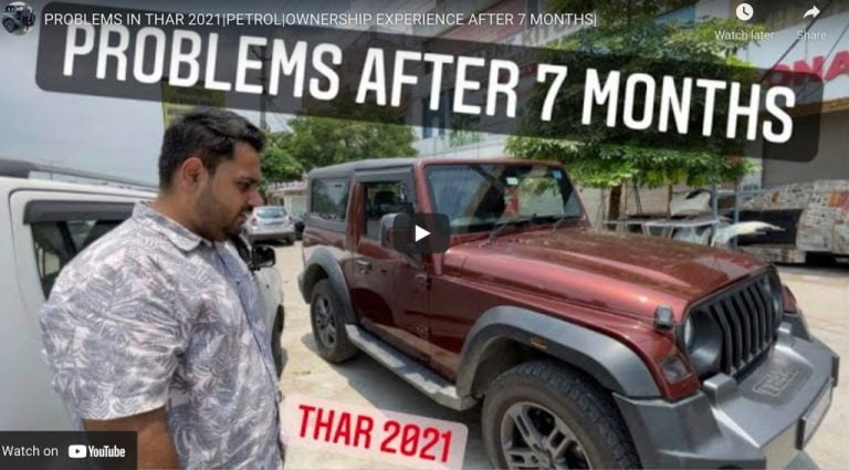 Problems With Mahindra Thar Petrol- Ownership Experience Review