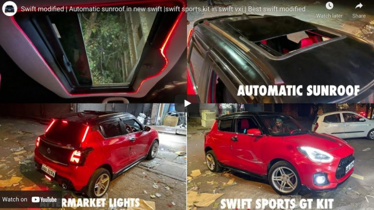 Maruti Swift Looks Uber Cool With Electric Sunroof & Other Mods!