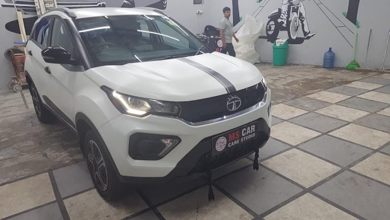 First-ever Tata Nexon With Matt White Paint Protection Film – This is IT!